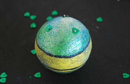fabrication boule de noel