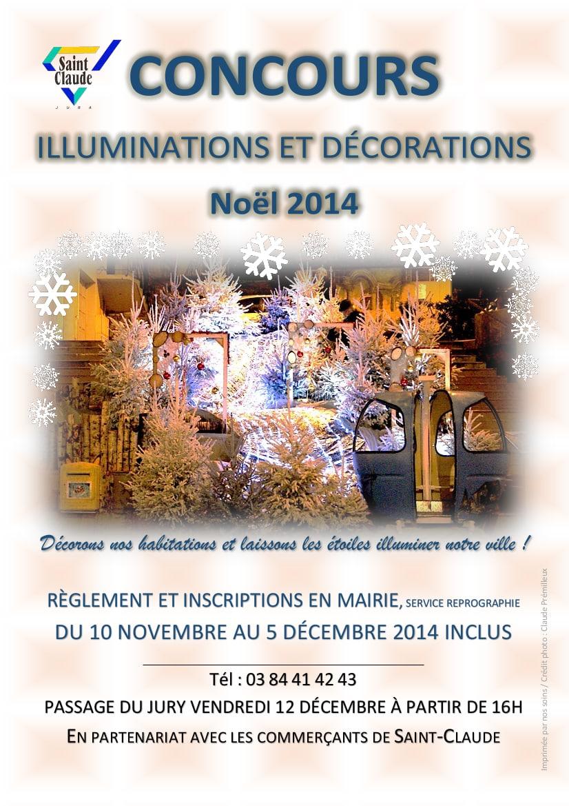 Affiche concours illuminations et déco noel